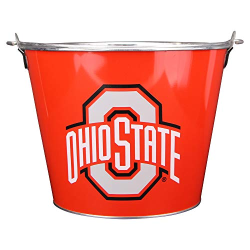 NCAA Full Color Team Logo Aluminum Beer and Ice Bucket (Ohio State Buckeyes) ()