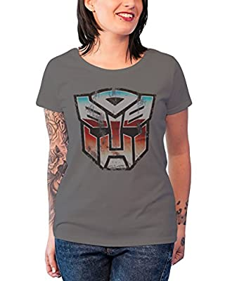 Officially Licensed Merchandise Distressed Autobot Shield Girly T-Shirt