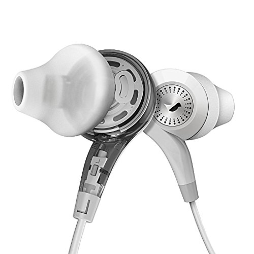 GranVela Conch Co-Axial Dual Driver Earbuds, Ergonomic Fit Earphones with Microphone and Remote (Best Type Of Shrooms)