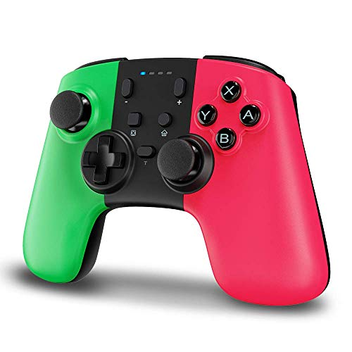Wireless Controller for Nintendo Switch, STOGA Wireless Switch Pro Controller for Nintendo Switch Lite, Switch Controller Wireless with Gyro Axis, Turbo, and Dual Vibration (Green&Pink)