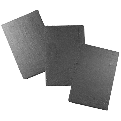 Cohas Slate Food and Cheese Platter or Art Board Includes 3 Medium 8 by 12 Inch Boards, Undrilled Gray Slate ()