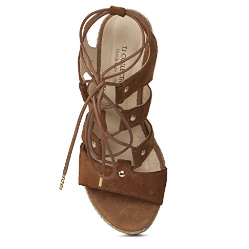 Tj Lace Suede Women's Gladiator Sandals Wedge up Collection IF4FxwR