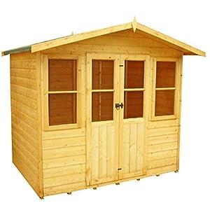 Shire Haddon 7x5 Summer House Shiplap Brown