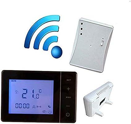 Morza Caldera 433MHZ Gas Wireless Termostato RF de Control 5A Caldera Mural Controller Calefacción Termostato Digital Temperatura LCD