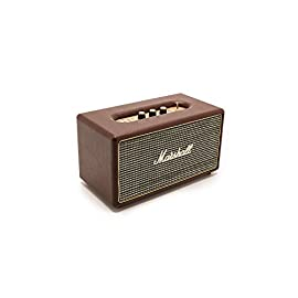 Marshall Acton M-ACCS-10126 Acton Speaker, Black 5 Bass and treble tone control Bluetooth Standard V4.0 Class D amplifier 2 x 8W+1 x 25W 1 x 4 in. woofer 2 x 3/4 in. dome tweeters 50-20.000Hz Frequency range 6.6 lbs. 10.5 x 6.25 x 5.9 in. The Acton provides a listening experience that is loud and clear, and connects you to your music with ease and style Its powerful deep bass belies its small size