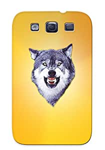 New Fashion Premium Tpu Case Cover For Galaxy S3 - Animal Wolf Case For New Year's Day's Gift