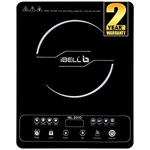 iBELL 2000W Induction Cooktop 20YO with Auto Shut Off and over Heat Protection, Black