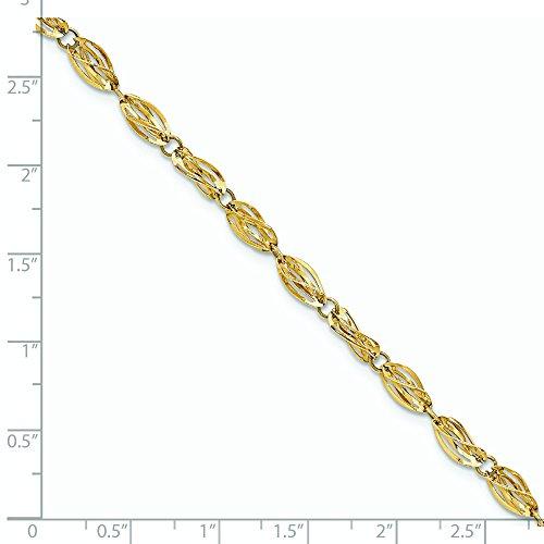 """De poli or 14 carats Bracelet Fantaisie-JewelryWeb 7,75 """""""