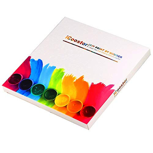 iCoostor Paint by Numbers DIY Acrylic Painting Kit for Kids & Adults- 16