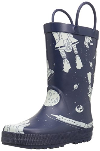 carter's Rain Boot (Toddler/Little Kid), Outer Space Navy, 12 M US Little Kid