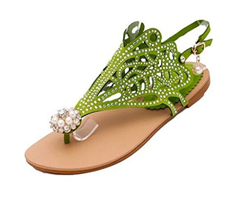 GFONE - alpargatas mujer Verde