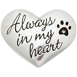 Rockin' Doggie Pewter Memorial Pocket Reminder, Always in My Heart