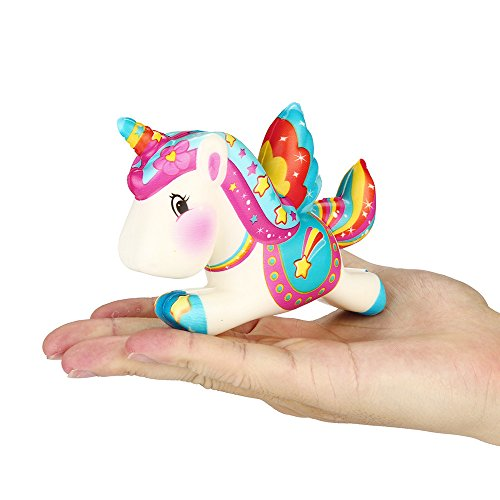 Theshy Cute Unicorn Squishy Slow Rising Cartoon Doll Cream Scented Stress Relief Toy Fidget Hand Toy for Kids Gift (9 Year Old Won T Sleep Alone)