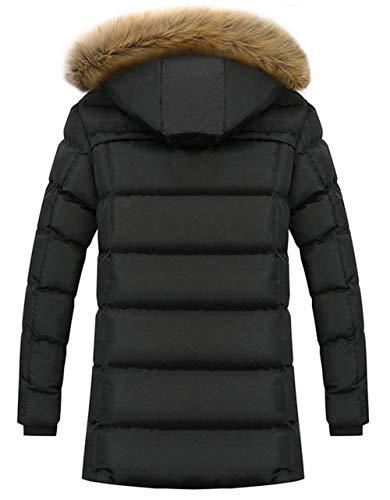 Cotton Windproof Winter Coat Detachable Parka Thick Winter Outdoor Winter Jackets Hooded Men's Jacket Dunkelblau Warm Hood Coat Long Down BoBoLily wfRPYARx