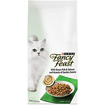 Purina Fancy Feast With Ocean Fish & Salmon and Accents of Garden Greens Dry Cat Food - 7 lb. Bag