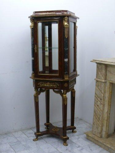 Barock Vitrine Rokoko Antik Stil Schrank Louis XV MoVi0001