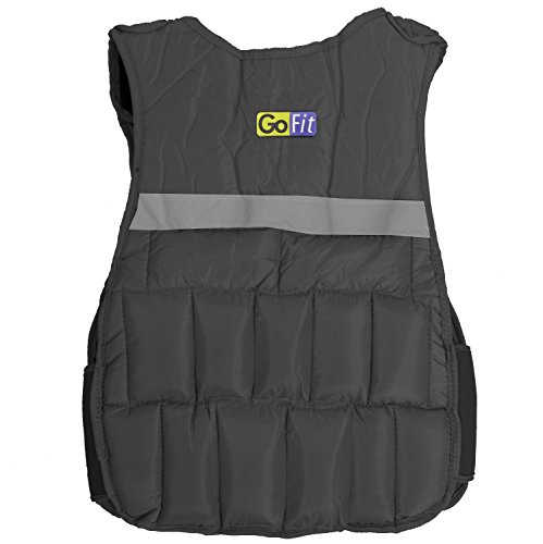 GoFit Padded Adjustable Weighted Vest - Resistance Training (Hidden Vest Weighted)
