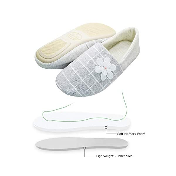 Thgonwid Women's Elegant Comfortable Warm Cotton Anti-Skid Soft Sole House Slippers Shoes