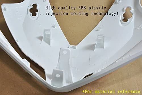 Wotefusi Brand New Motorcycle ABS Plastic Unpainted Polished Needed Injection Mold Bodywork Fairing Kit Set for 1994-2002 Ducati 748 916 996 White Base Color 1 Piece Rear Seat