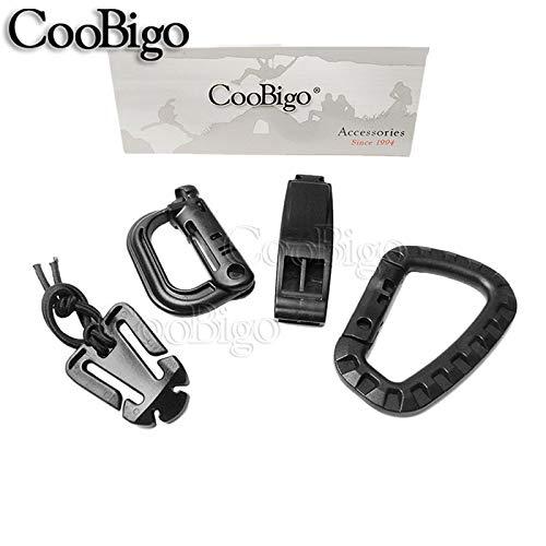 (Buckle Web Dominator |elastic Rope Grimloc Carabiner D-Ring Survival| Tactical Backpack Kits 1 Set)