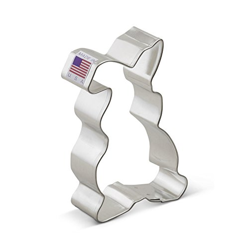 Floppy Ear Easter Bunny Cookie Cutter - 3.8 Inches - Ann Clark - US Tin Plated Steel]()