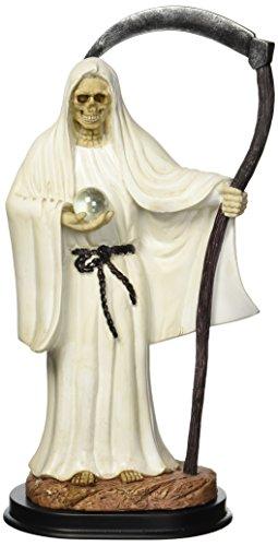 12 Inch White Santa Muerte Saint Death Grim Reaper Statue Figurine - White Santa Figurine
