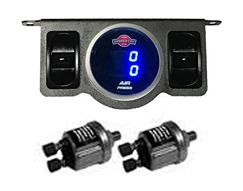 (Air Gauge 200psi Dual Digital Display Panel 2 Switch Air Ride Suspension Control)