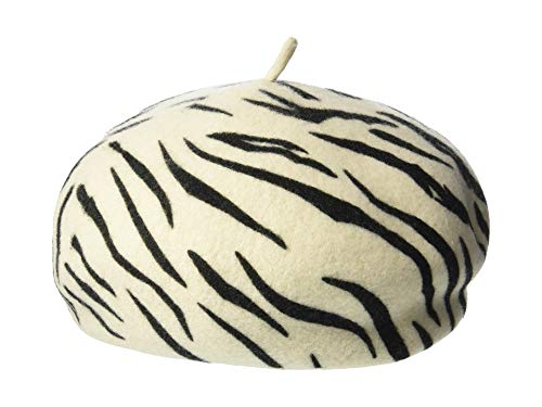 Brixton Women's Audrey Beret, White Tiger, Small