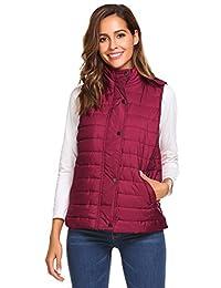 Meaneor Women's Packable Lightweight Down Vest Outdoor Puffer Vest Coat