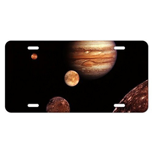 zaeshe3536658 Planet Jupiter With Io Europa Ganymede and Callisto Moons Space Novelty Metal Vanity Tag License Plate Auto Tag 12 x 6 (Europa Vanity)