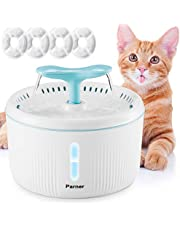 Pet Water Fountain, Parner LED Indicator 2L Flower Pet Dispenser, Super Quiet Automatic Drinking Water Bowl for Cat and Dog