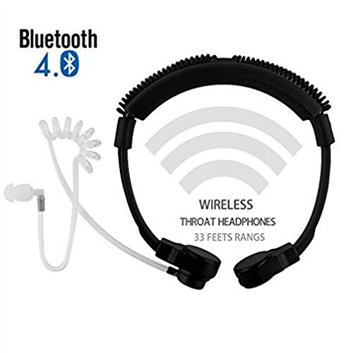 Braudel Cool Wireless Bluetooth 4.0 Adjustable Throat Viberate Mic Microphone, Anti-noise Tactical Neckband Vocal Military Headset/Headphones for Cellphone and Gaming