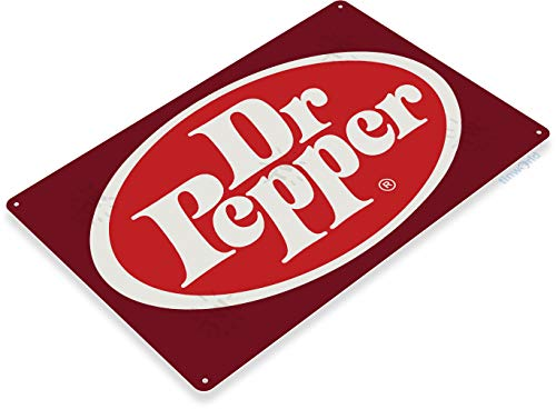 "Tinworld TIN Sign ""Dr Pepper Logo Metal Decor Wall Art Kitchen Store Bar A342 ()"