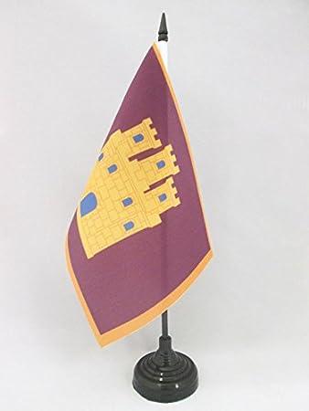 AZ FLAG Bandera de Mesa de Castilla INDEPENDENTISTA 21x14cm - BANDERINA de DESPACHO CASTELLANA NACIONALISTA 14 x 21 cm: Amazon.es: Hogar