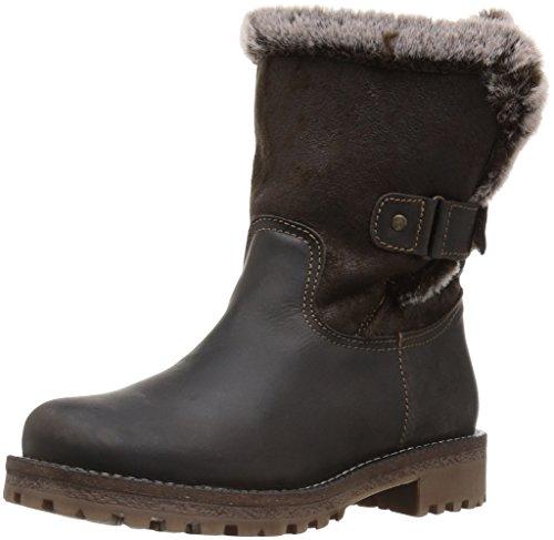 Bos. & Co. Womens Candy Snow Boot Marrone Scuro / Marrone Scuro Montagna / Imitazione Double Face