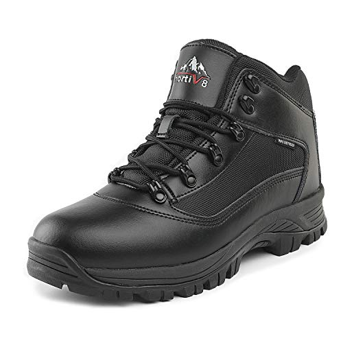 NORTIV 8 Men's Mack_01 Black Mid Waterproof Hiking Boots Size 10.5 M US