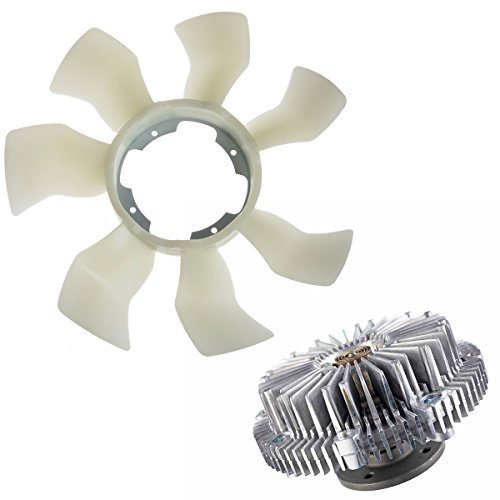 (A-Premium Engine Cooling Fan Blade and Fan Clutch for Infiniti Q45 1997-2001 FX45 2003-2008 QX4 Nissan Pathfinder 2-PC Set)