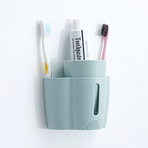 Bathroom Accessories M and F 1PC Paste toothbrush holder mouthwash cup toothpaste holder set creative wall hang toothbrush shelf