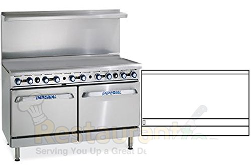 Imperial Commercial Restaurant Range 60'' Griddle With 2 Standard Ovens Propane Model Ir-G60 by Imperial