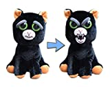 William Mark Feisty Pet Black Cat: Katy Cobweb Stuffed Attitude Plush Animal
