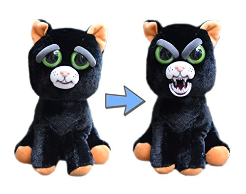 Feisty Pets William Mark Black Cat: Katy Cobweb Stuffed Attitude Plush Animal -