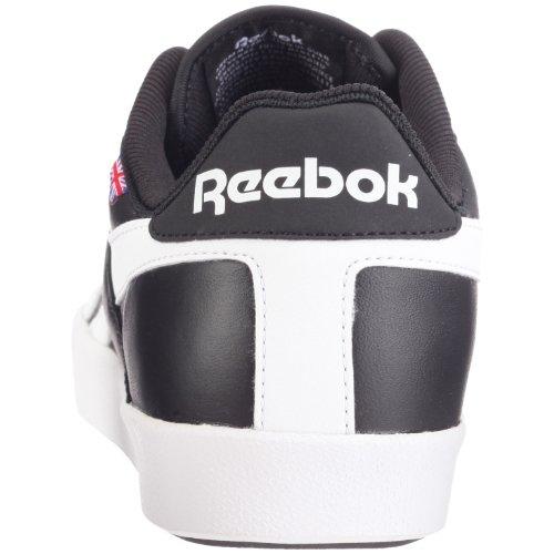 Schwarz na Marron Baskets Low Tennis Vulc Cuir En Reebok qZvO4x
