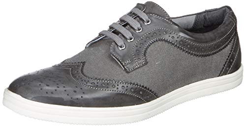 Amazon Brand – Symbol Men's Grey Canvas Formal Shoes – 9 UK (AZ-WS-271C)