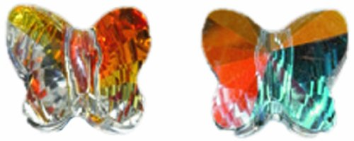 - Swarovski 5754 Butterfly Beads, Transparent Finish, 8mm, Crystal, 6-Pack