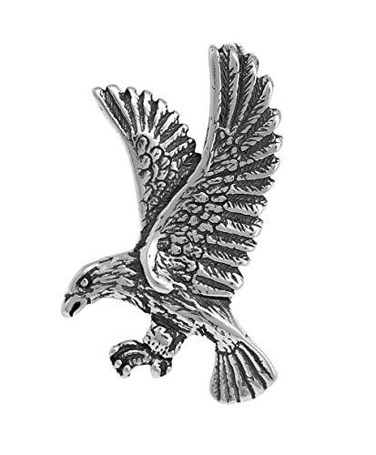 Raposa Elegance Sterling Silver Bald Eagle Slide Pendant (approximately 30.5 mm x 20 mm)