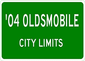 2004 04 OLDSMOBILE City Limit Sign - 10 x 14 Inches