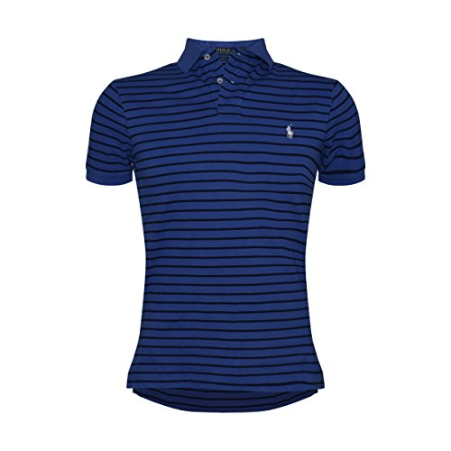Polo Ralph Lauren Men's Custom Fit Multistripe Polo (Navy Mu, Small) (Custom Fit Polo)