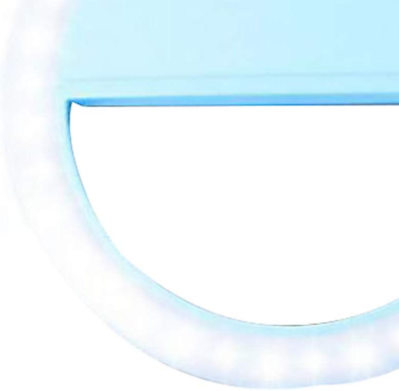 wufeng Selfie Anillo Flash LED luz de Relleno de la l/ámpara de la c/ámara de v/ídeo Fotograf/ía Spotlight para iPhone X 8 7 para Samsung S9 S8 Plus