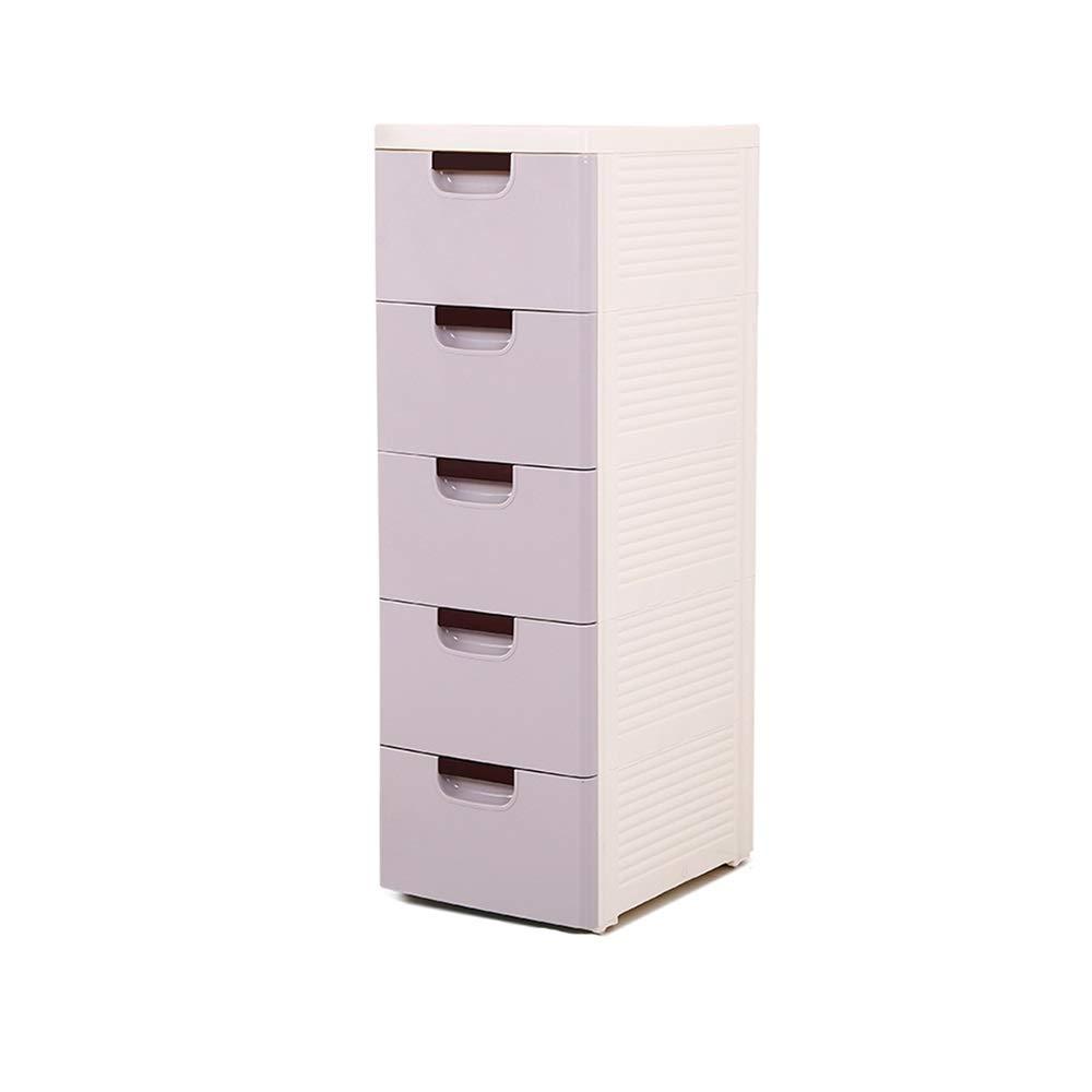 XSJZ 狭いラック 狭い手押し、キッチンバスルームのための5層多機能プラスチックフロアスタンド収納ラック キッチンワゴン (色 : C) B07R9VDFRW C