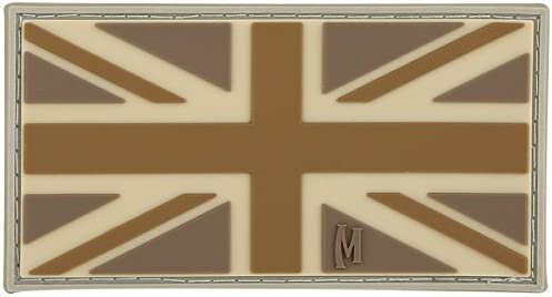 Maxpedition Gear - Parche de bandera del Reino Unido, color árido, 3 x 1.6 pulgadas: Amazon.es: Deportes y aire libre